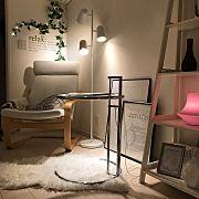 1R/1K/ウォールステッカー/ワンルーム/IKEA/丸いガラステーブル/照明…などに関連する他の写真