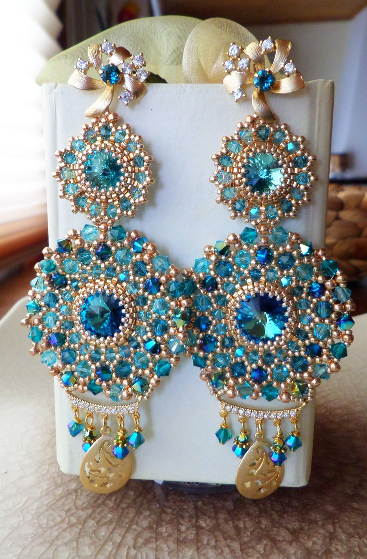 Serena Di Mercione Creation earrings,swarovski