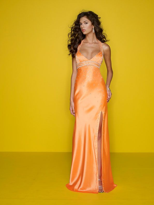 78  ideas about Orange Prom Dresses on Pinterest  Pretty dresses ...