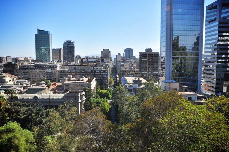 Vue de Santa Lucia, Santiago du Chili