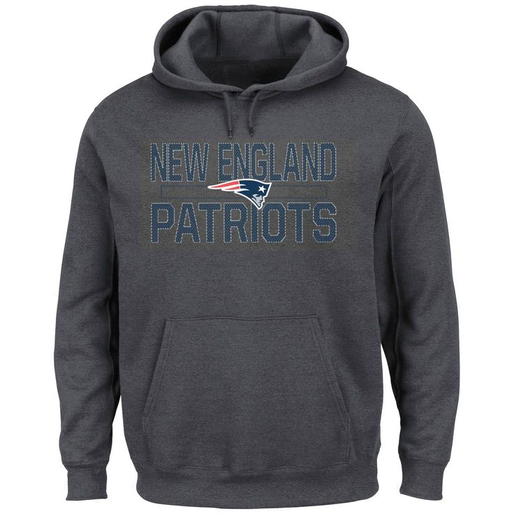 New England Patriots Majestic Kick Return Pullover Hoodie - Charcoal - $43.99