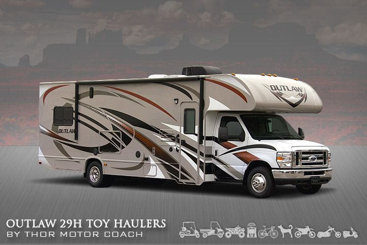 One of a kind Class C Toy Hauler - the Outlaw 29H