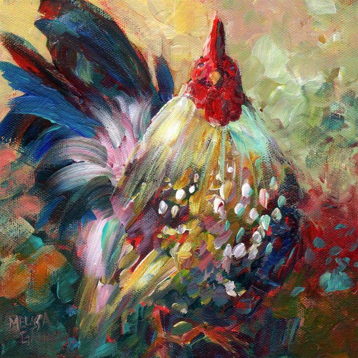 """Fine and Feathered"" - Original Fine Art for Sale - © Melissa Gannon"