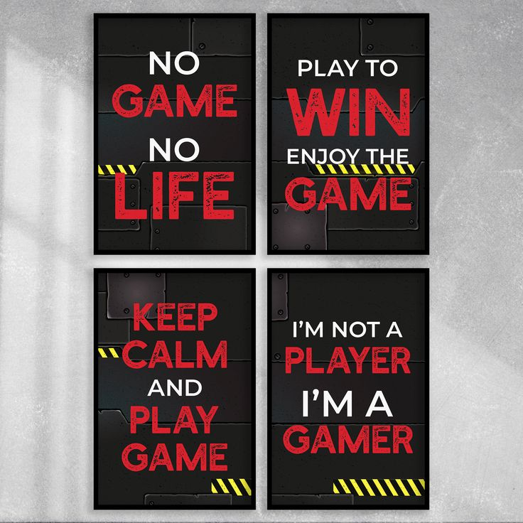 Game Over Poster Print Size A4 Computer Gaming Gamer Poster Gift #14766 A4
