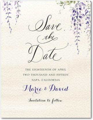 Save the Date Postcards Wisteria Wonder: Velvet Rope