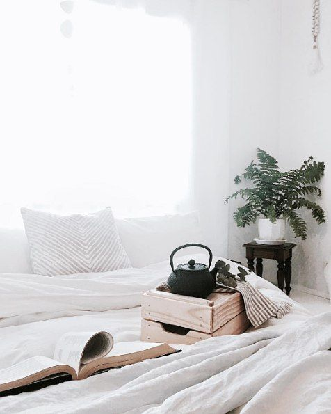 Hump day. Can we stay in bed drink tea and read books all day? . via @juthamat_by_jem