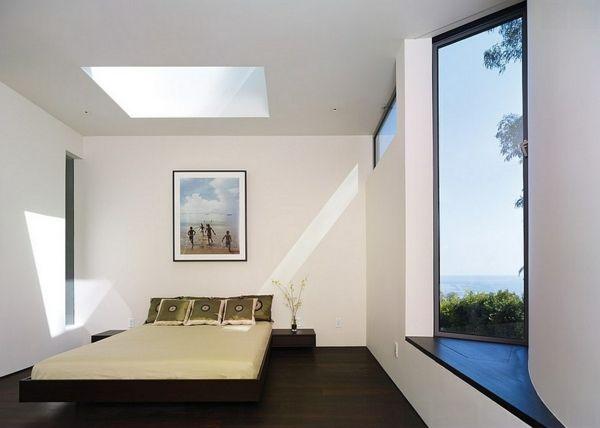 Velux Dachfenster Dachflachenfenster Im Schlafzimmer Dekoration Diy Modernes Schlafzimmer Design Modernes Schlafzimmer Luftige Schlafzimmer