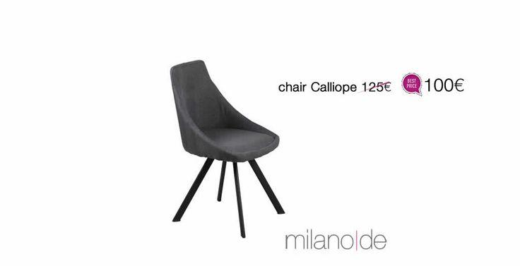 Αναπαυτική και κομψή, η #καρέκλα Calliope αποτελεί μια εξαιρετική πρόταση για την #τραπεζαρία. Μέταλλο και ύφασμα, σε έναν συνδυασμό του μοντέρνου με το βιομηχανικό.    https://www.milanode.gr/product/gr/2388/karekla_calliope.html