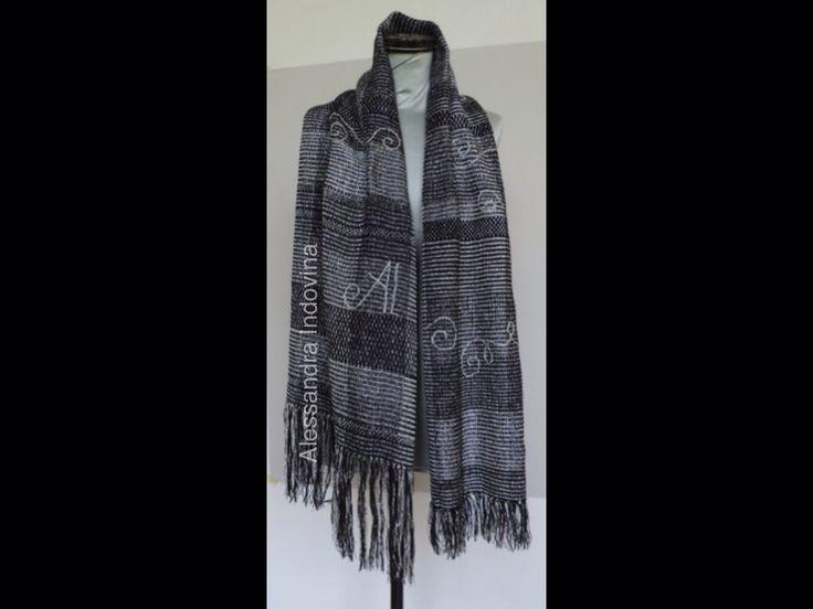 Weaving. Art deco' scarf
