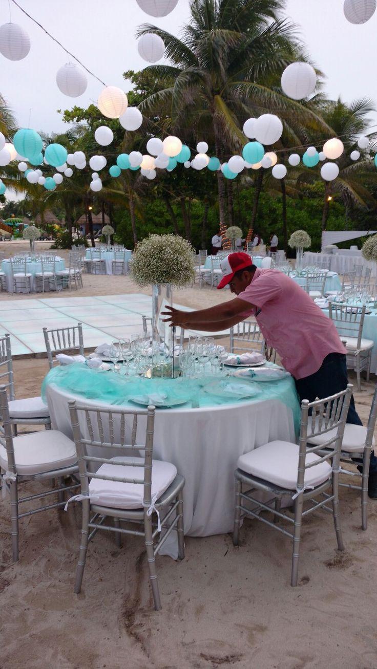 Set up Weddings Grand Palladium Resort & spa. #RivieraMaya Weddings