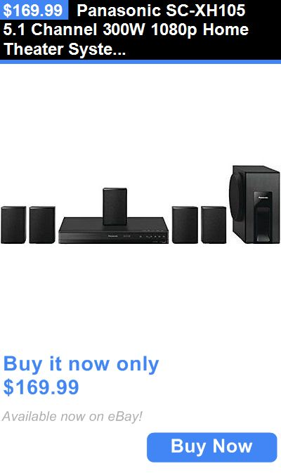 Home Theater Systems: Panasonic Sc-Xh105 5.1 Channel 300W 1080P Home Theater System BUY IT NOW ONLY: $169.99