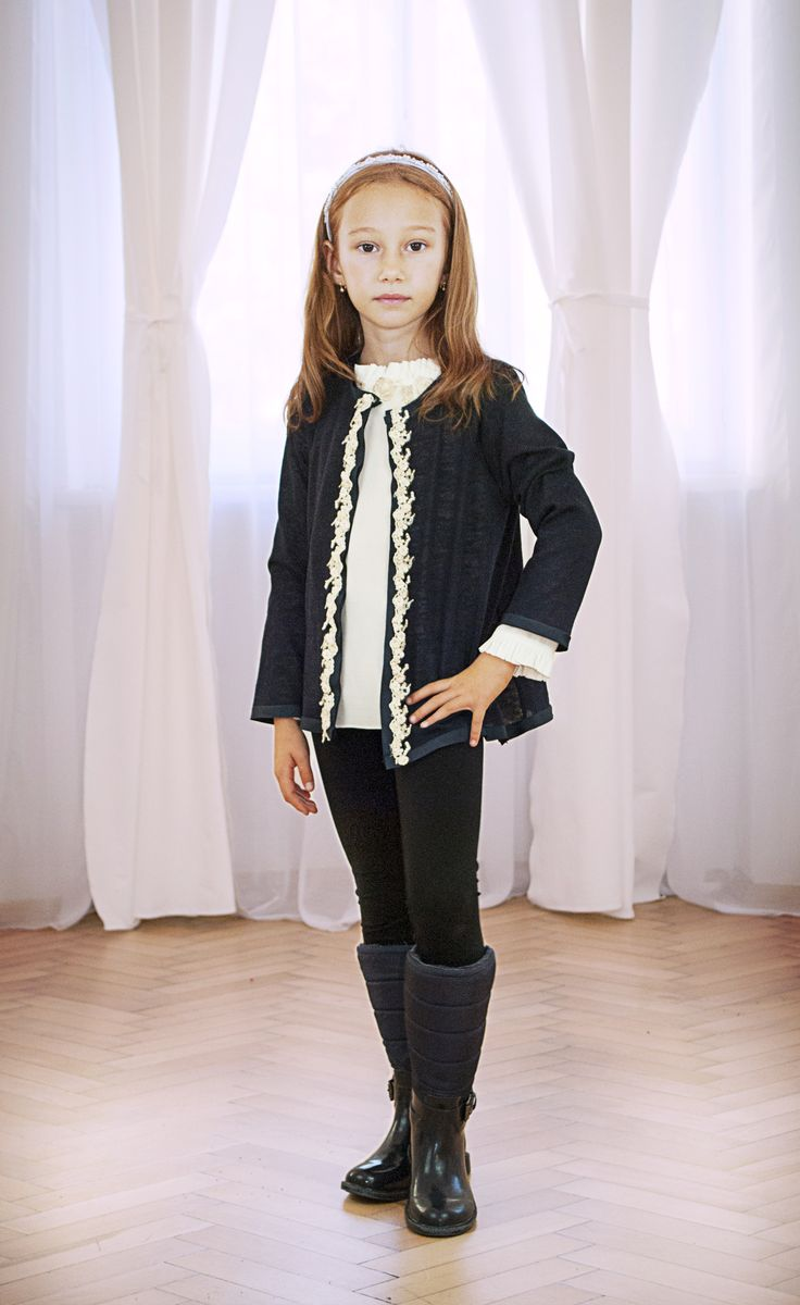 Designers for kids, cardigans for girls with lace embroidery for kids fashion look, inspired from fairytales and Rhea Costa style