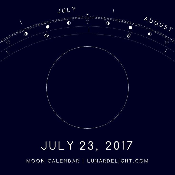 Sunday, July 23 @ 09:47 GMT  New Moon  Next Full Moon: Monday, August 7 @ 18:12 GMT Next New Moon: Monday, August 21 @ 18:31 GMT