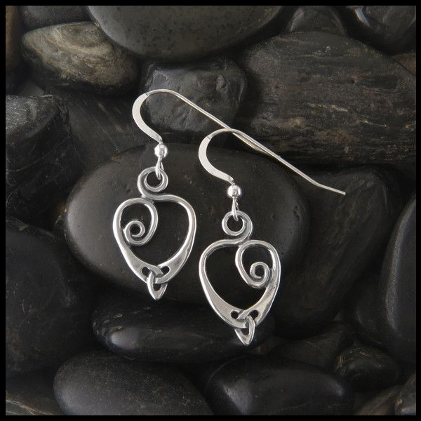 """Spiral """"Anna's Heart"""" Earrings in Sterling Silver. Matching Pendant Available in 14K Gold Item number: SW3226 Original designs © Stephen Walker Prices subject to change. Please call or email for more"""