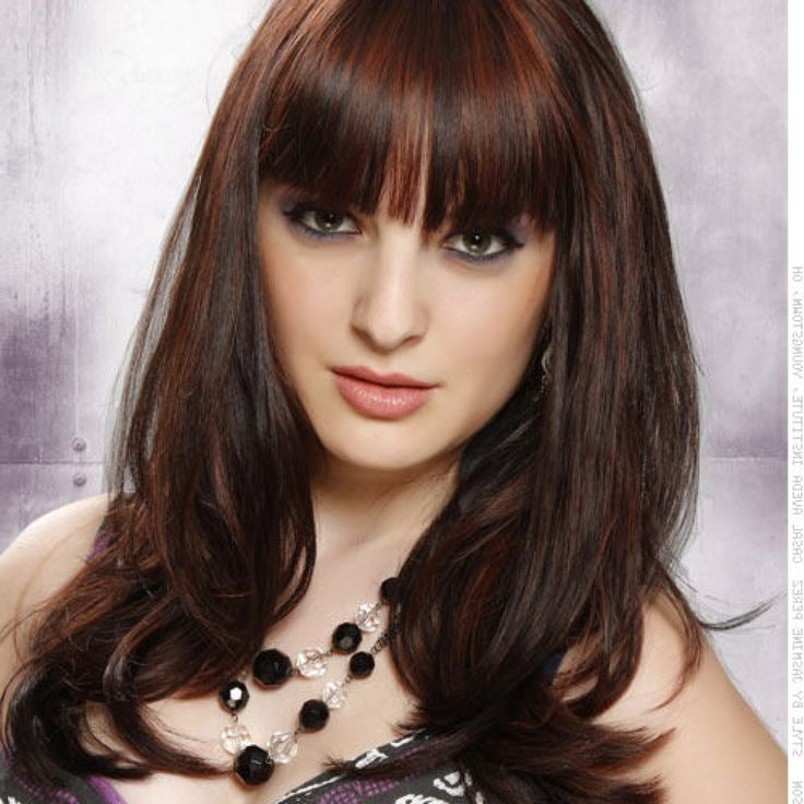 Brunette Style For Long Hair With Bangs And Lots Of Volume Haircuts For Long Hair With Bangs Haircuts For Long Hair With Bangs 2015 2016
