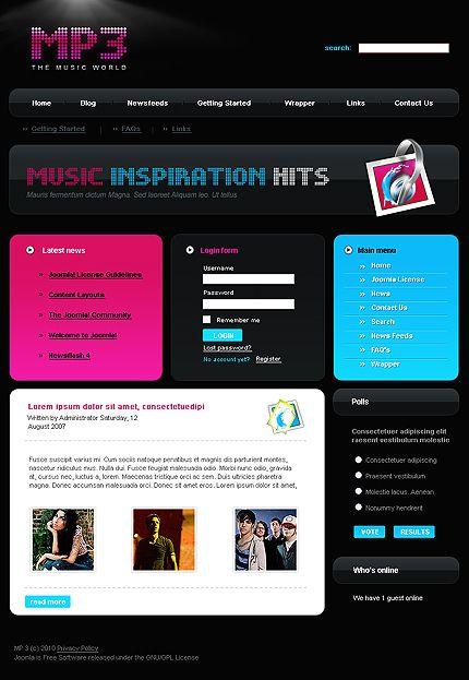 Mp3 Music Joomla Templates by Di