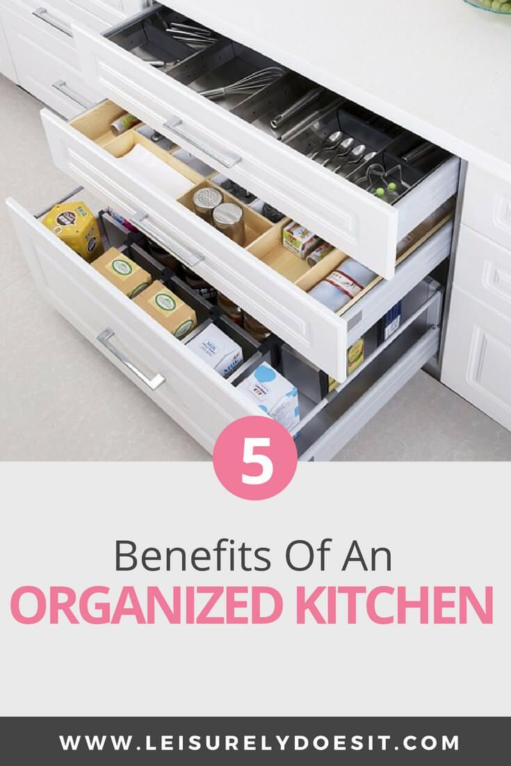 benefits of an organized kitchen room by room organization