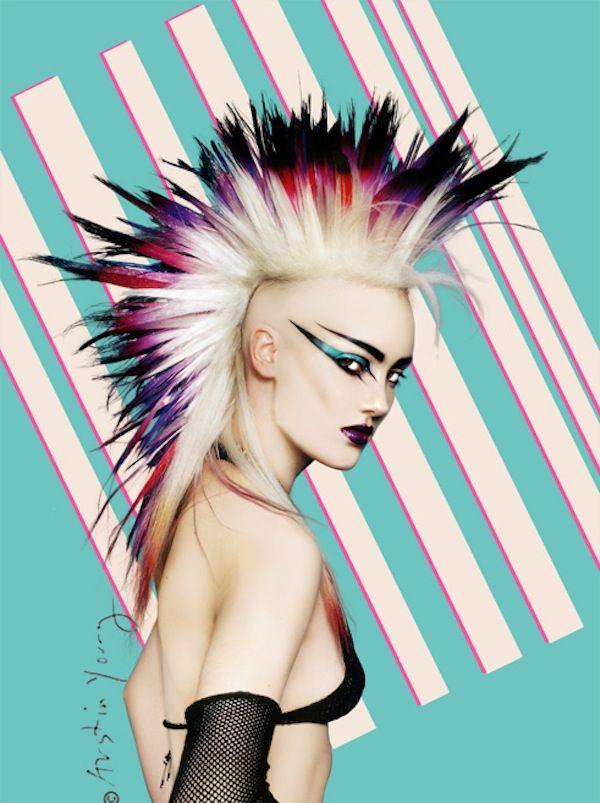 80 S Punk Rock Hair And Makeup - Mugeek Vidalondon