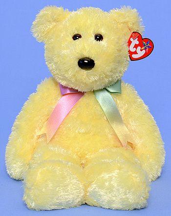 TY Beanie Buddy - Sherbet the Bear (yellow)