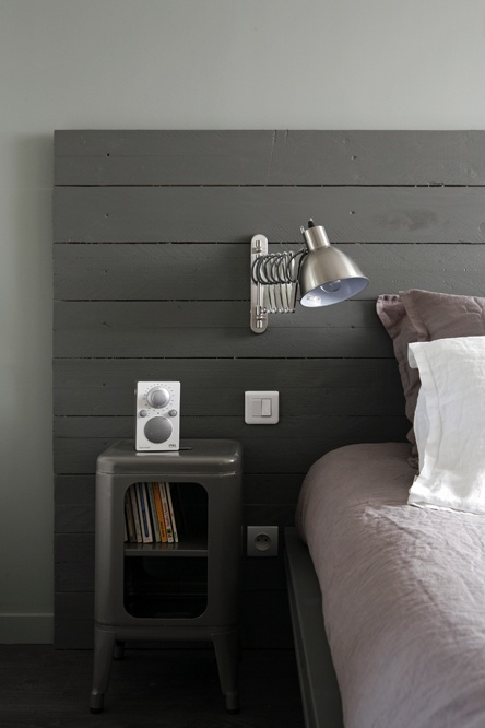 headboard industrial style dark gray industrial style for da new house pinterest. Black Bedroom Furniture Sets. Home Design Ideas