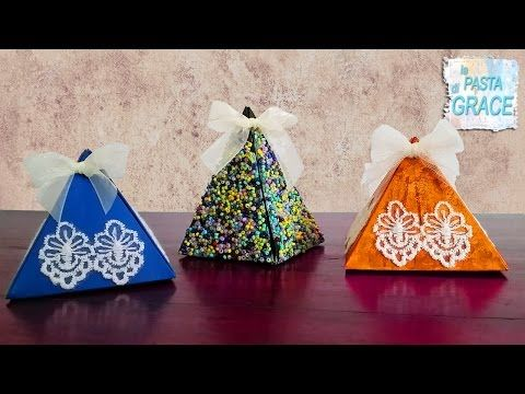 La pasta di Grace - Video Tutorial Scatole regalo fai da te