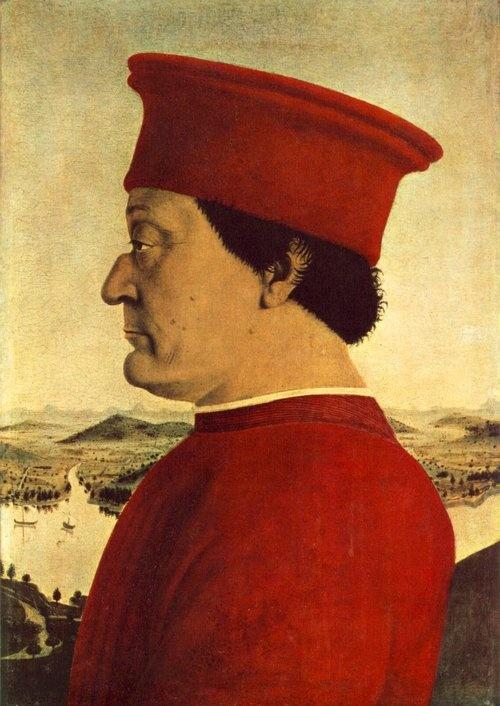 PIERO DELLA FRANCESCA - (1415 - 1492) | - Portrait of Federico da Montefeltro.