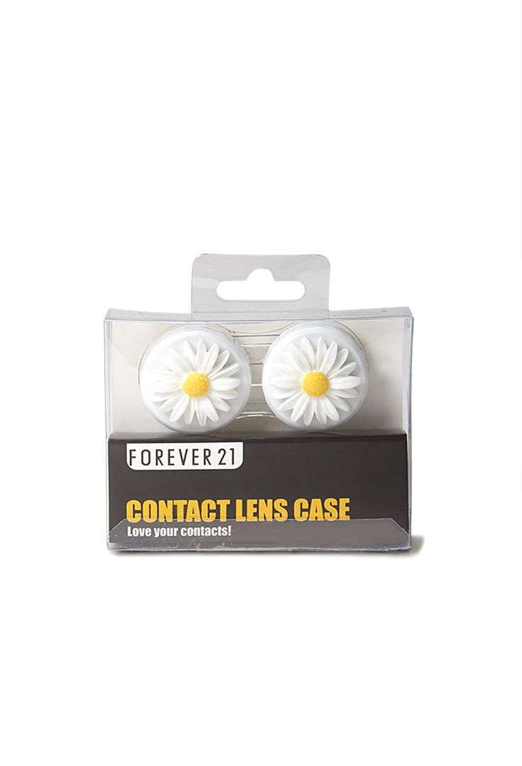 Darling Daisy Contact Lens Case | FOREVER21 #Contacts #Accessories #Floral So nice to think of contact lenses wearers :)