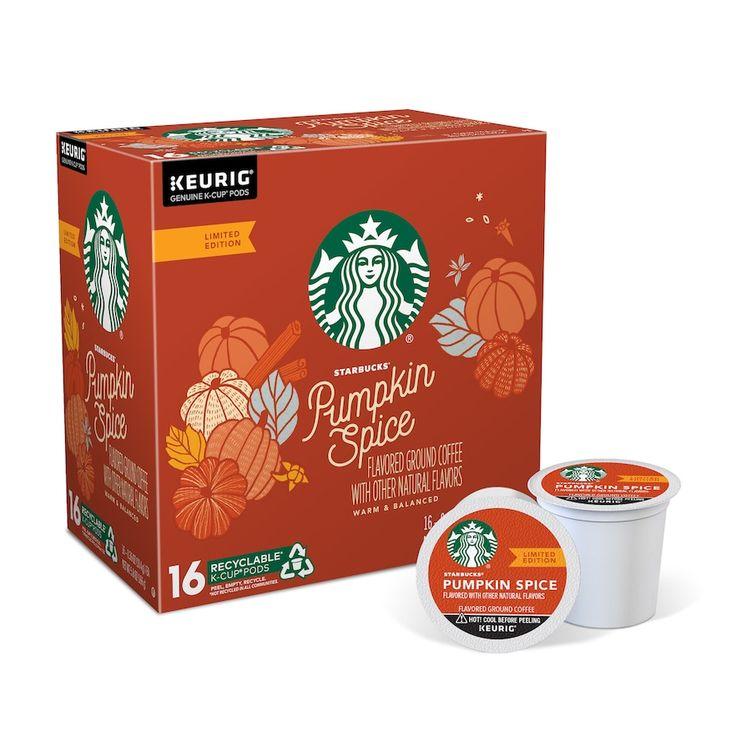 Keurig kcup pod starbucks pumpkin spice flavored coffee