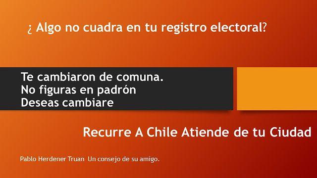 CONSEJERO REGIONAL  ARAUCANIA: PROBLEMAS CON EL REGISTRO ELECTORAL