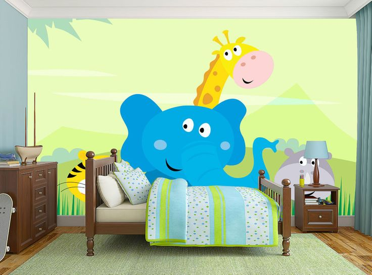 Jungle Animals at your kids room.. :)