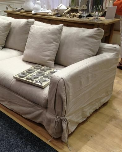 Long Island Linen Sofa Removable Covers Allissias Attic Vintage French Style