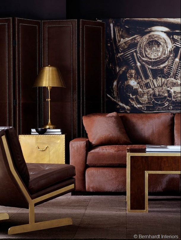 Magnificently Masculine: Sophisticated and Classic Furniture Collection by Bernhardt Interiors | The Decorating Diva, LLC: Living Rooms, Decor Divas, Furniture Collection, Bernhardt Furniture, Warm Brown, Classic Furniture, 02客厅Live Rooms, Furniture Photos, Masculine Interiors