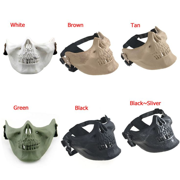 6colors CS M03 Halloween Airsoft Mask Skull Skeleton Paintball Masquerade Costume Half Face Mask Adults Skull Scary Masks