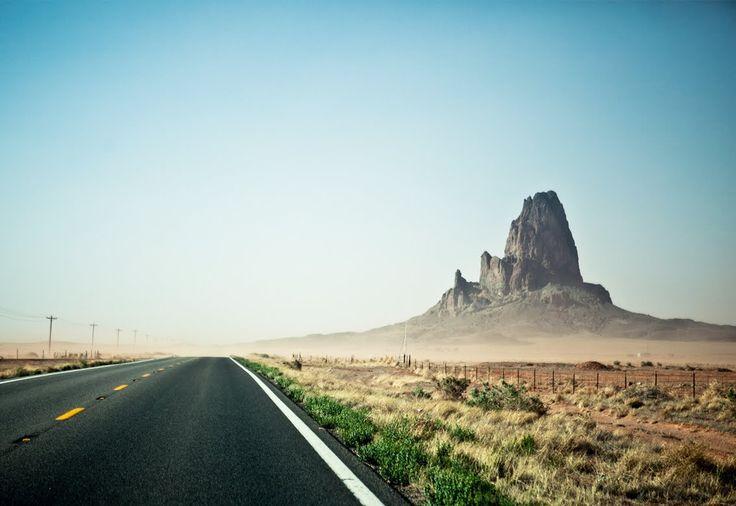 Route 66 West, Arizona to California.