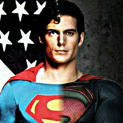 #christopherreeves #henrycavill #superman #blendedphoto #christopherreevessuperman #henrycavillsuperman