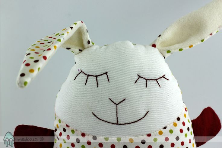 This bunny toy is made of cotton fabric, with cute and soft furry belly. It is stuffed with polyester filling, which makes it very soft and cuddly It has no hard pieces or any other...
