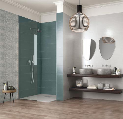badkamertegels mooie kleur in de inloopdouche