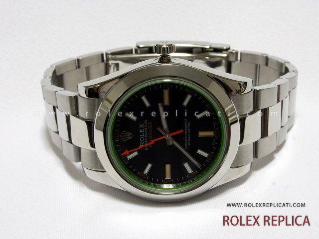 Rolex Milgauss Replica Quadrante Nero Vetro Verde