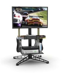 Spyder TV & Gaming Stand - Black Video Games Organizer Accessories Game Tower
