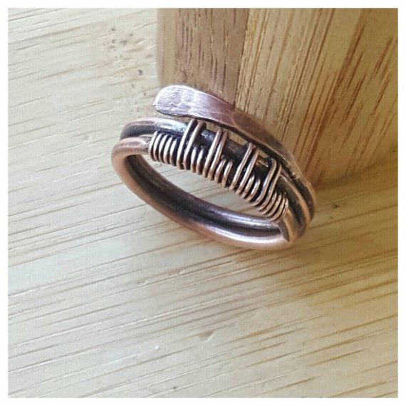 Hey, I found this really awesome Etsy listing at https://www.etsy.com/listing/269504130/woven-copper-band-ringwire
