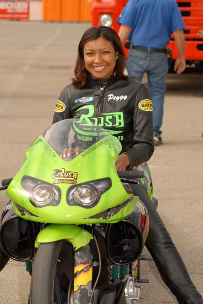 10 Questions with Peggy Llewellyn, NHRA Pro-Stock Motorcycle Drag Racer of Jamaican descent. (Jamaica)