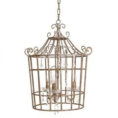 METAL CEILING LAMP IN ANTIQUE GOLD COLOR 50X65/150
