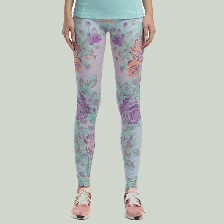 3D Printing Yoga Pants Sexy Slim Sport Leggings Women Push Up Workout Fitness Flower Sportleggins Yoga Running Shop Online Store