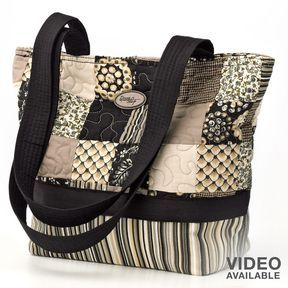 quilted bag patterns-donna sharp quilted patchwork tote