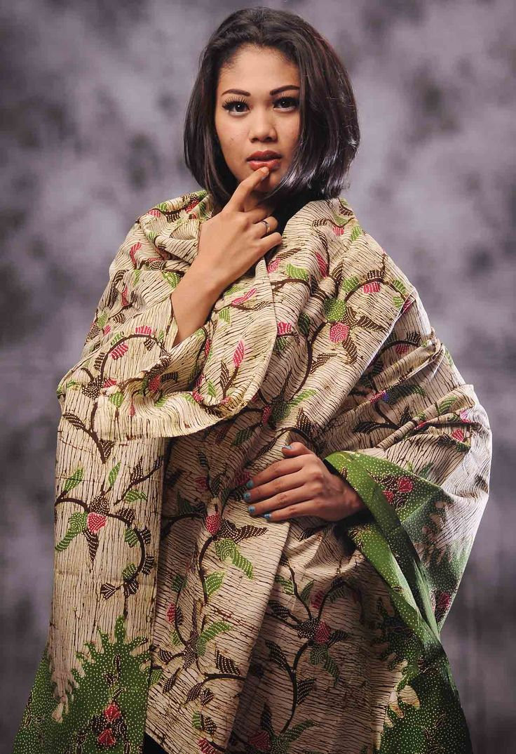 Kain Batik Tulis Madura, Motif: Serat Kayu, Kode: BTM-76