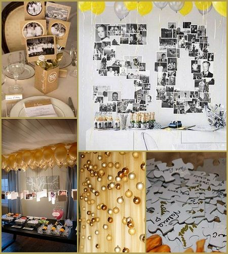 50th wedding anniversary decoration ideas from for 50th anniversary decoration