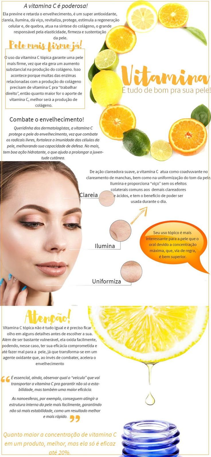 Top 5 vitamina C para pele: os melhores produtos com vitamina C para deixar a pele luminosa, firme, hidratada e rejuvenescida!