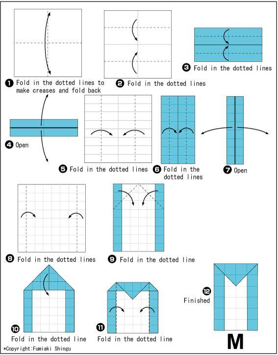 Origami alphabet(M)