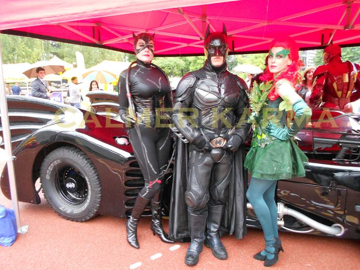 Batman, Catwoman, Iron Man and Poison Ivy and of course the Bat Mobile to hire for superhero parties and corporate events across the UK inc LONDON, MANCHESTER, BIRMINGHAM and NEWCASTLE WWW.calmerkarma.co.uk Tel:  0203 602 9540