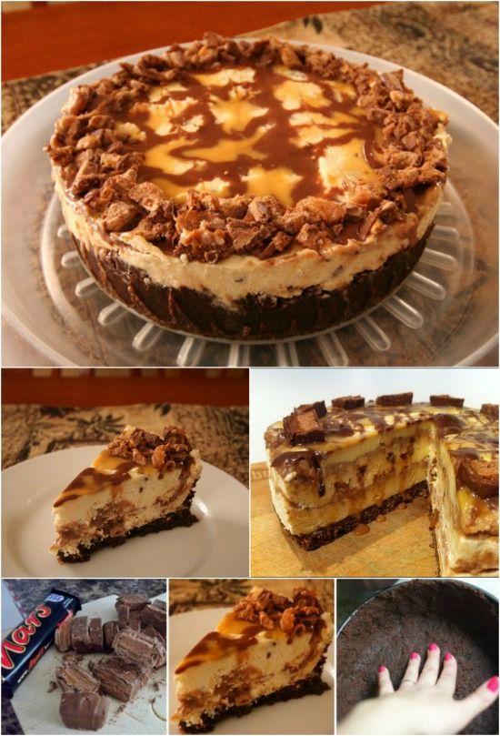 Easy and Delicious No-Bake Mars Bar Cheesecake {Yummy recipe}